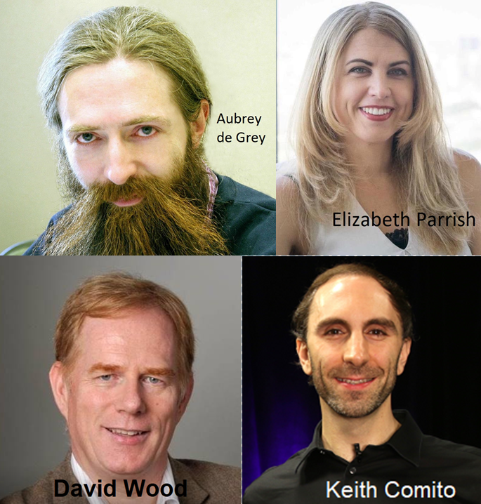 Podcast #40: Scenarios for a Post-Aging Future, with Aubrey de Grey, Elizabeth Parrish, David Wood, and Keith Comito.